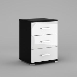 N3 black mat / white high gloss